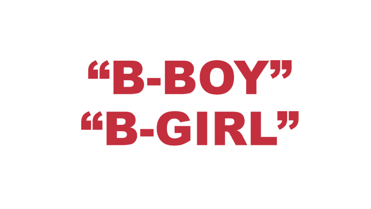 What does B-Boy & B-Girl mean?