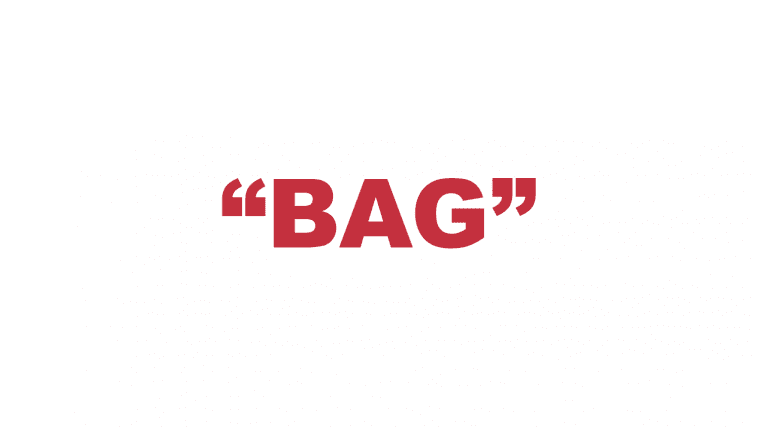 "What does ""Bag"" mean in rap?"