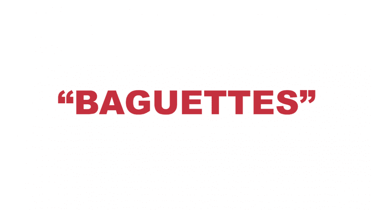 "What does ""Baguettes"" mean in rap?"