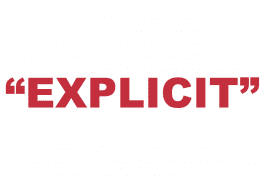 """What does """"Explicit"""" mean?"""