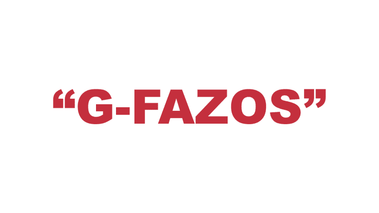 "What does ""G-Fazos"" mean?"