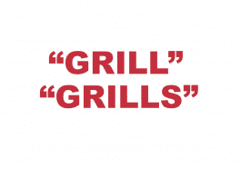 "What does ""Grill"" and ""Grills"" mean?"