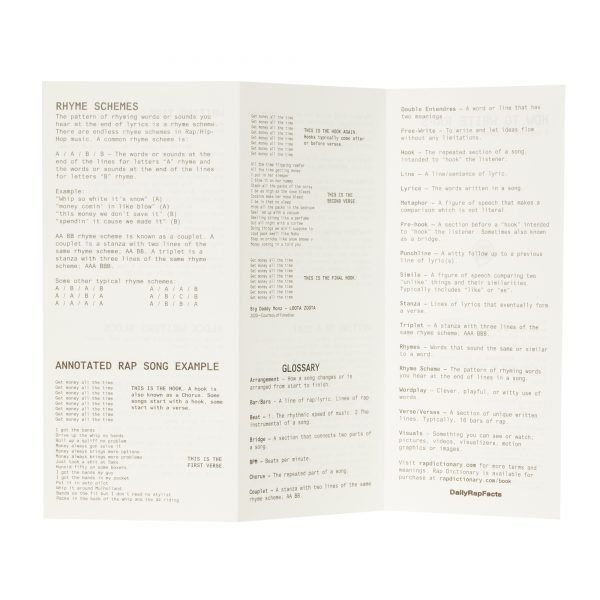 How to Write Raps (Booklet)