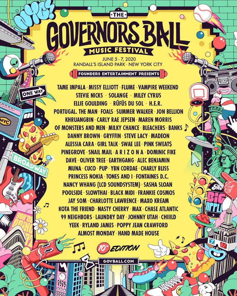 Governors Ball Lineup