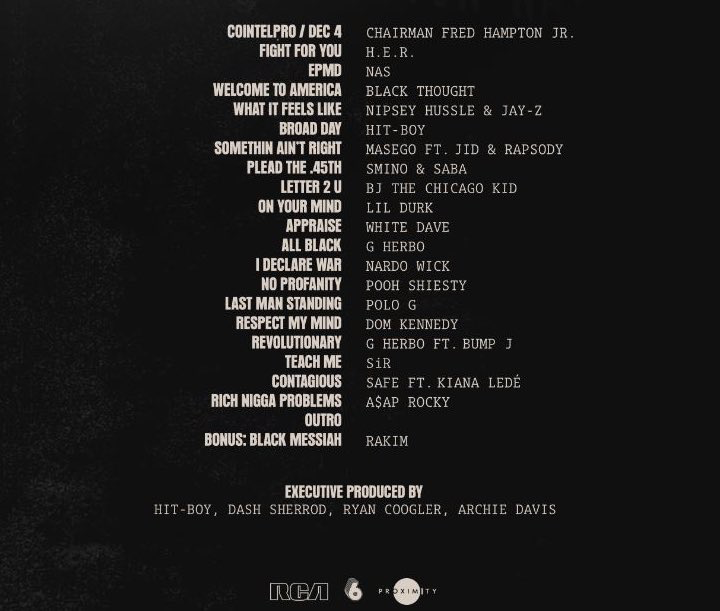 'Judas and the Black Messiah' soundrack to feature Jay-Z, Nipsey Hussle, Black Thought, A$AP Rocky, & more