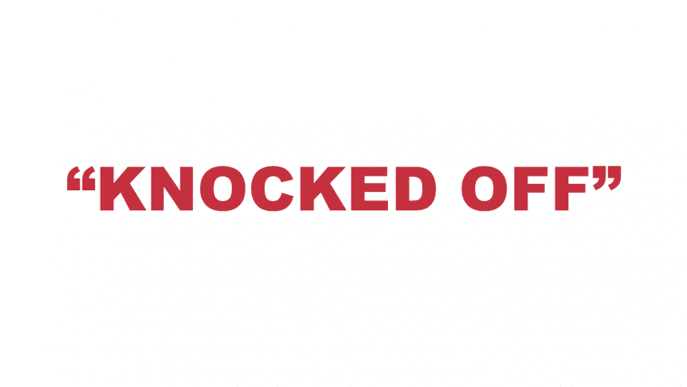 "What does ""Knocked Off"" mean?"