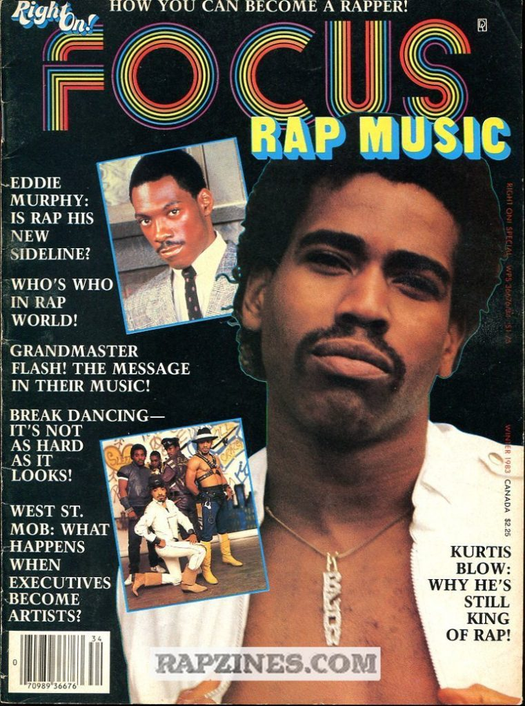 Kurtis Blow was the first rapper on a magazine cover
