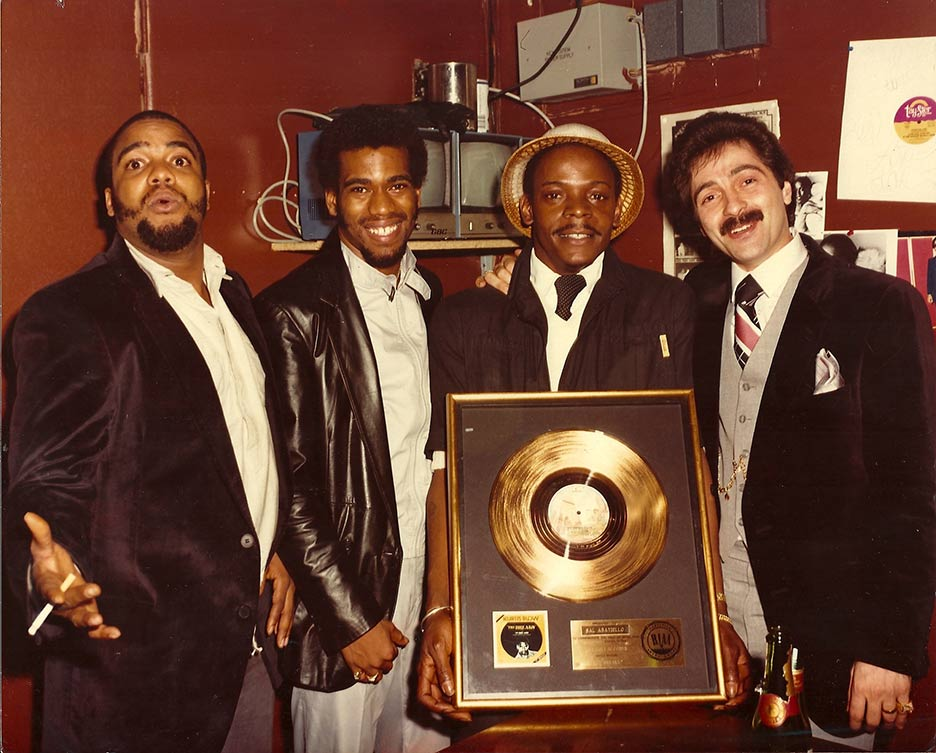 "Kurtis Blow and his plaque for ""The Breaks"""