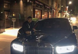Meek Mill with his Rolls Royce