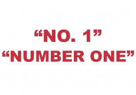 """What does """"No. 1"""" or """"Number one"""" mean?"""