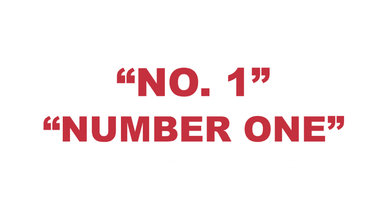 "What does ""No. 1"" or ""Number one"" mean?"