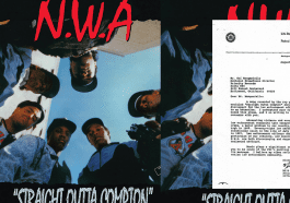 The FBI sent Ruthless Records a warning letter in response to N.W.A's 'Straight Outta Compton' album content