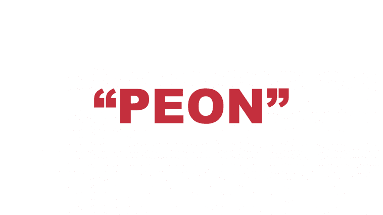 """What does """"Peon"""" mean?"""