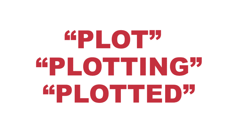 "What does ""Plot"", ""Plotting"" and ""Plotted"" mean?"
