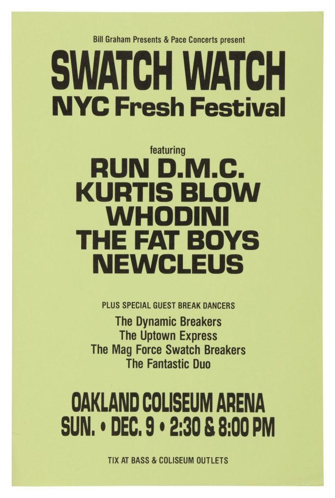 Run DMC was the first rap group to perform in an Arena
