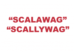 """What does """"Scalawag"""" or """"Scallywag"""" mean?"""