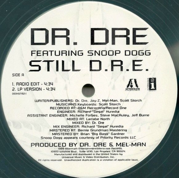 "Jay Z wrote ""Still D.R.E."" For Dr. Dre, the lead single off Dr. Dre's ""2001"" album"