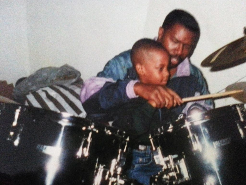 Travis Scott and His Dad drumming