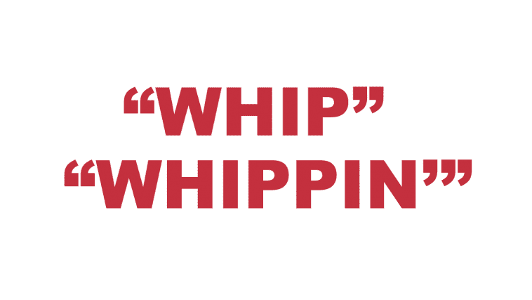"""What does """"Whip"""" and """"Whippin'"""" mean?"""