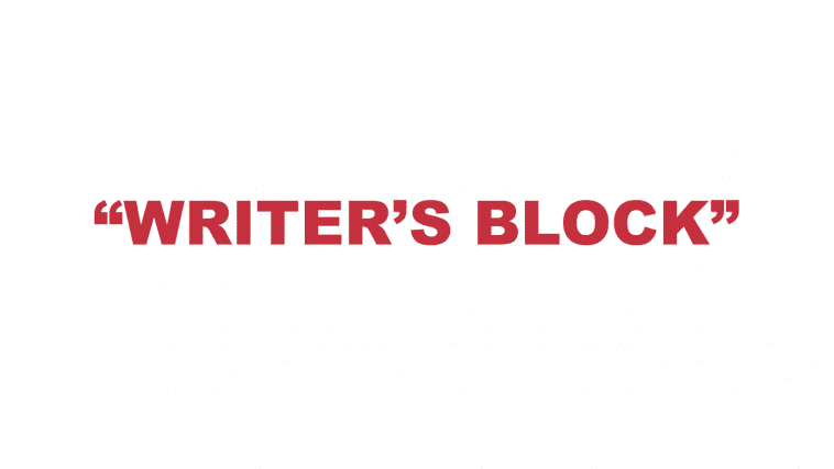 """What does """"Writer's block"""" mean?"""