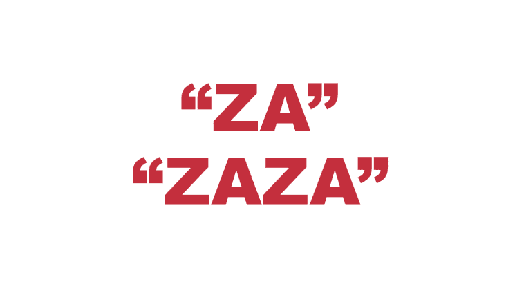 "What does ""Za"" or ""Zaza"" mean in rap?"